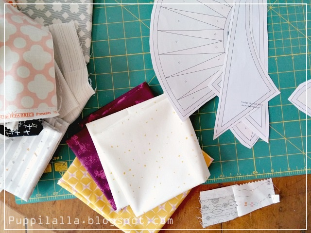 Puppilalla, Rakish Needle, Round Robin, Foundation Paper Piecing, New Yourk Beauty BOM, Patchwork