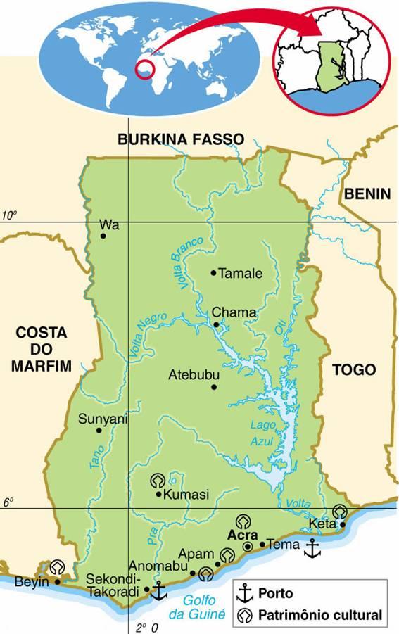 Gana, Aspectos Geográficos e Socioeconômicos de Gana