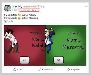 instagram share otomatis ke facebook