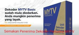 Semakan Nama Penerima Dekoder Percuma MYTV 2016 Online
