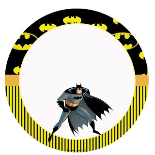 Toppers o Etiquetas de Batman para imprimir gratis.