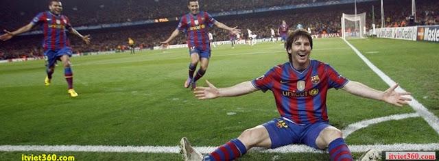 Ảnh bìa Facebook bóng đá - Cover FB Football timeline, Messi ghi bàn thắng thể hiện