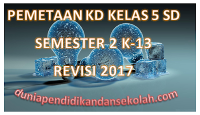 Pemetaan KD Kelas 5 SD Semester 2 Kurikulum 2013 Revisi 2017