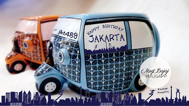 Mug Karakter Bajaj untuk ulang tahun Jakarta #JKT489