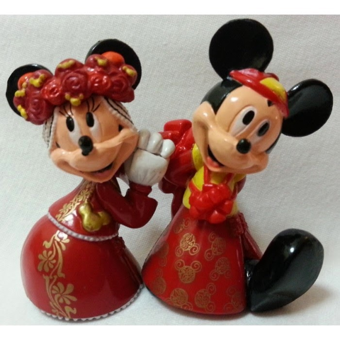 Tattooed Couple Cake Toppers