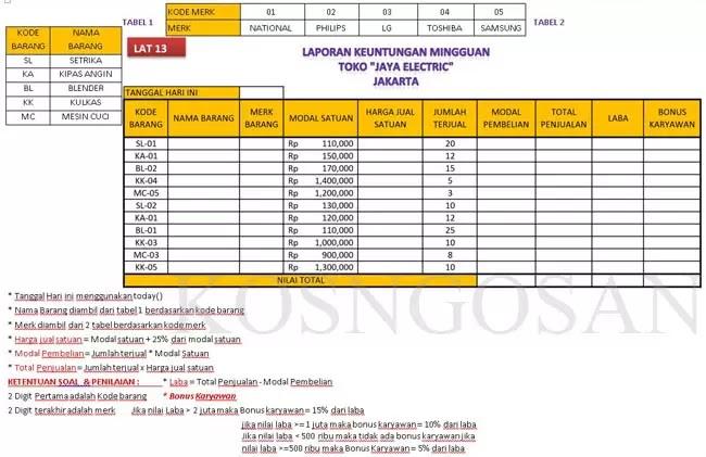 Kumpulan Soal Excel Untuk Tes Kerja Perusahaan Terbaru Berbagai Posisi Kosngosan