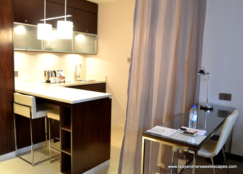 Centro Capital Centre's Compact Studio kitchenette