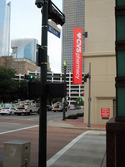 Milam Street at Congress / Market Square Tower & Park