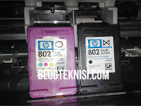 Cara Mengisi Tinta Warna Printer HP1010 Cartridge 802