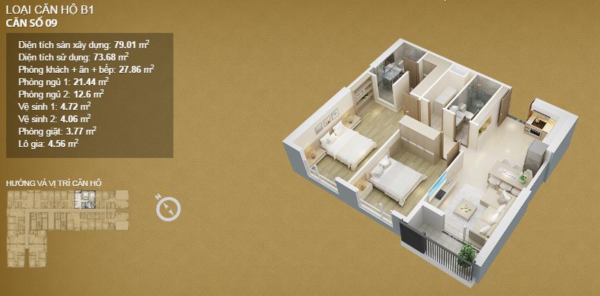 Căn hộ 09 tầng 34