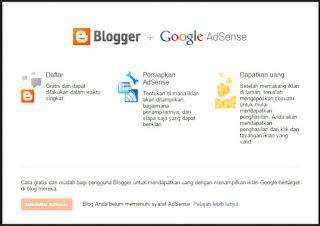 Cara Tercepat Untuk Membuat Tombol Daftar Google Adsense Pada Blog Aktif