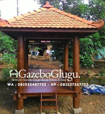 Gazebo Kayu Kelapa Glugu