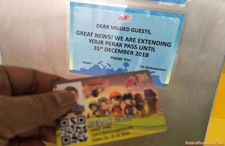 Sah Laku Kad Pass Perak MAPS Ipoh Dilanjutkan Sehingga 31 Disember 2018