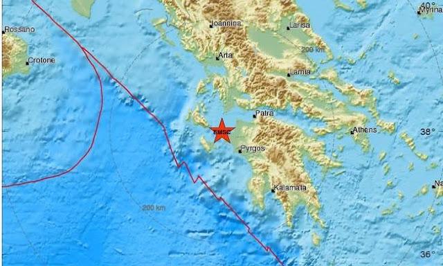 Σεισμός έγινε αισθητός στην Πελοπόννησο