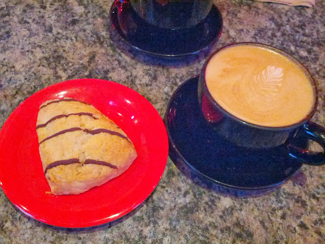 Coffee and Scone at Red Rock in Mountain View, CA