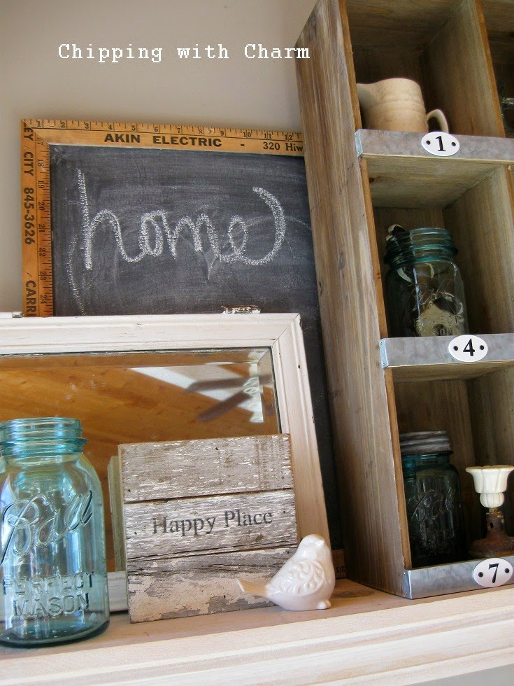 Chipping with Charm: Spring Mantel...www.chippingwithcharm.blogspot.com