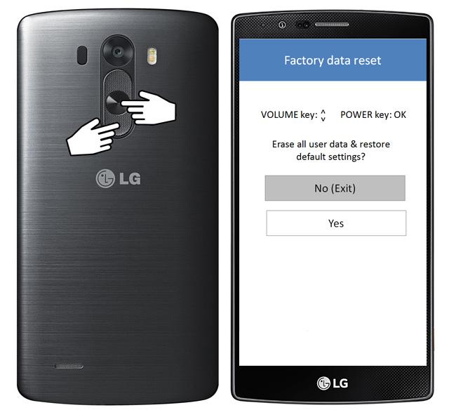 resetear teléfono LG g3