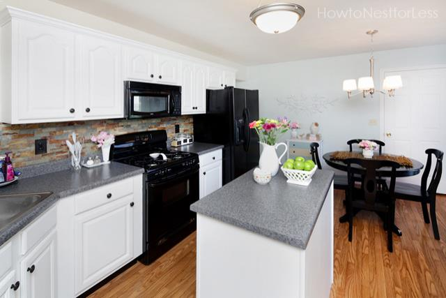 White Kitchen Cabinets With Black Appliances Home Interior Exterior Decor Design Ideas
