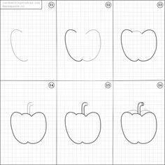 Cara Menggambar Buah Apel untuk Anak-Anak