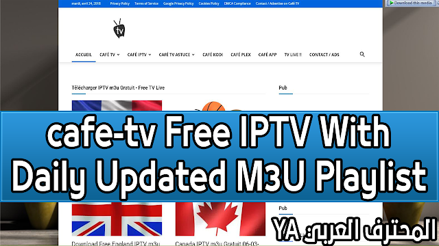 Best Free cafe-tv IPTV With Daily Updated M3U Playlist Sports Channels 2018