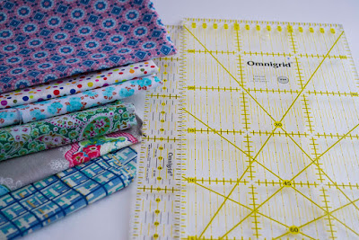 Telas y reglas de patchwork