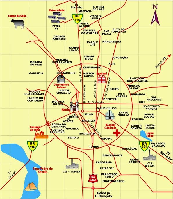 entroncamento mapa Mapas de Feira de Santana   BA | MapasBlog entroncamento mapa