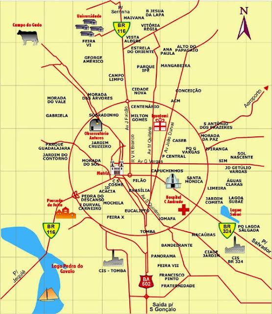 Mapa de Feira de Santana