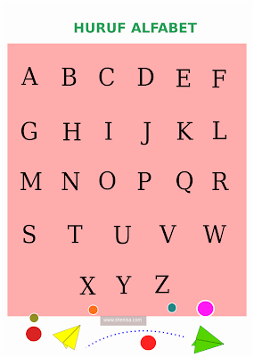 poster alfabet abjad A sampai Z