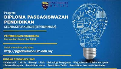 Permohonan Program DPLI Universiti Malaysia (UM) 2018 Online