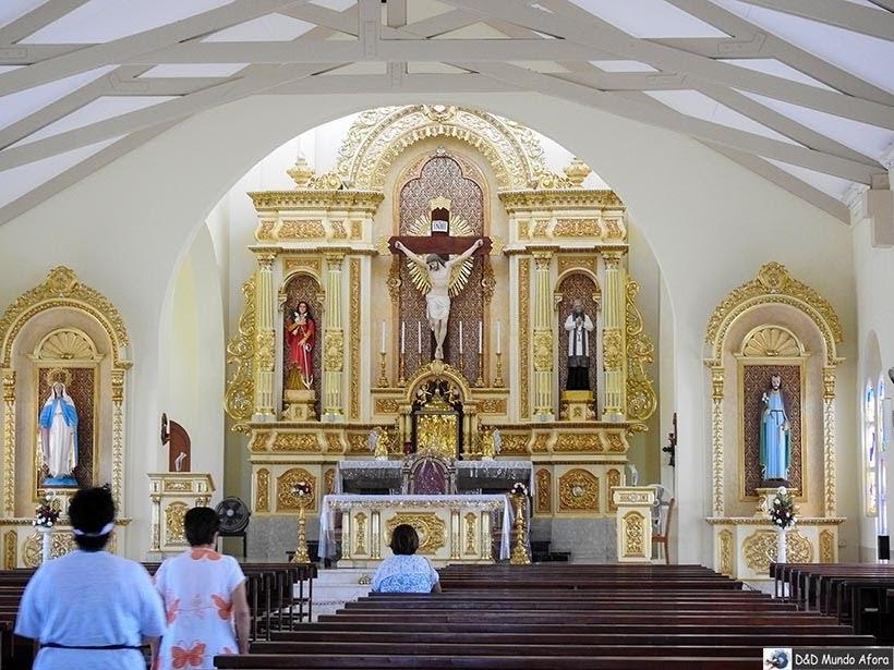 Interior da igreja de Santa Filomena - Guia completo: o que fazer em Aruba