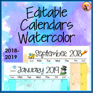 nyla s crafty teaching editable printable calendars for teachers