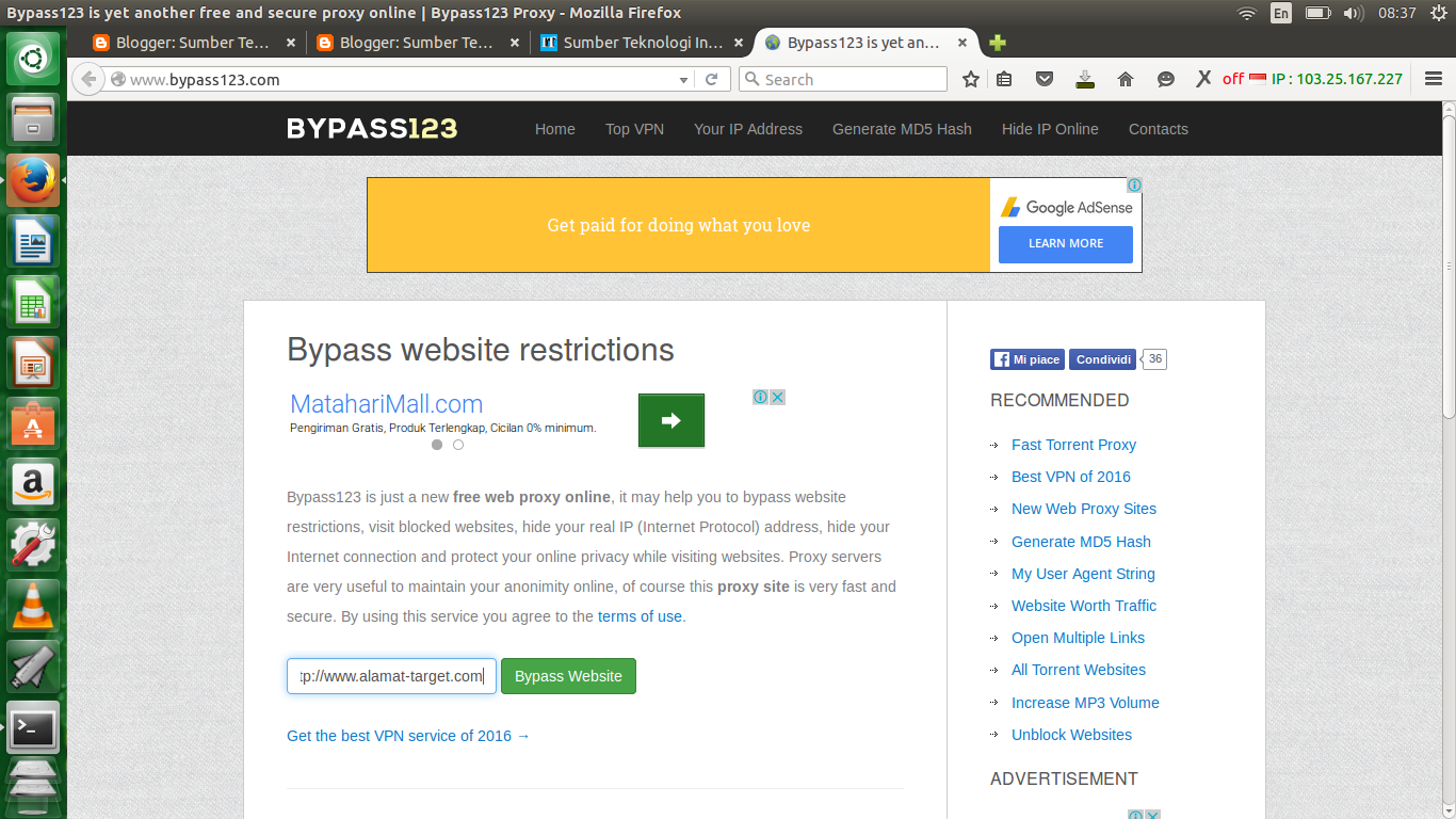 Bypass proxy blocked sites online