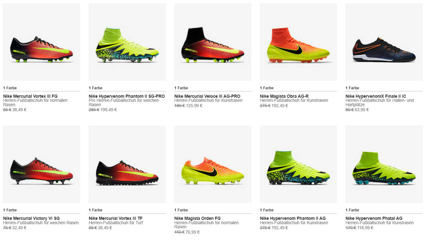 Cutting-Edge Nike Cleats Available For Almost Half of the Price. There are  tons of different products available in Nike\u0027s football ...