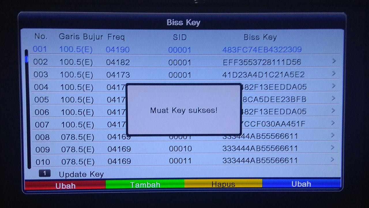 Cara Membaca QR Code Scan di Receiver Parabola ALI3510C