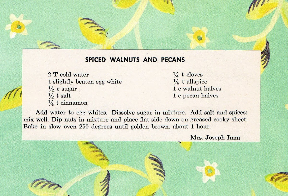Spiced Walnuts and Pecans (quick recipe)