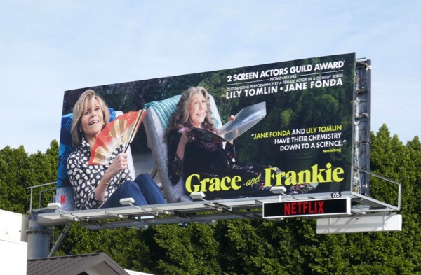 Grace and Frankie s4 SAG Award nominee billboard