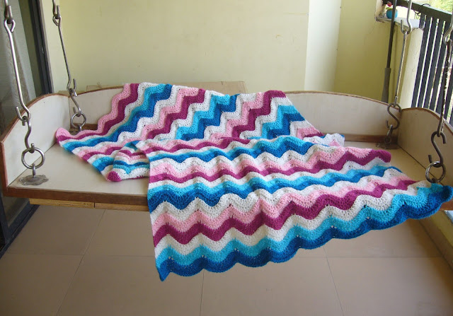 crochet ripple blanket pattern