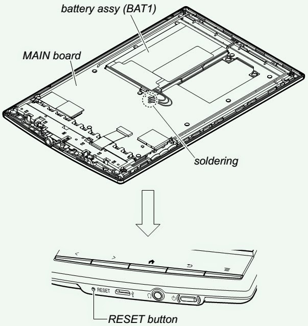 Wiring Schematic diagram: SONY PRS T1 DIGITAL BOOK READER
