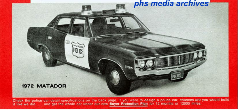 Law Enforcement Version Of The Amc Matador Was A Good Car Made Even Better That Year With Switch To Chrrysler Sourced 727 Transmissions Instead Borg