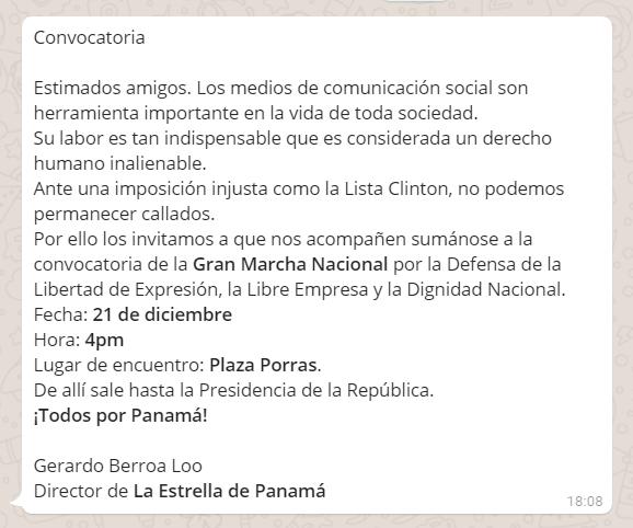 Convocatoria - La Estrella de Panamá
