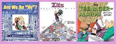 portadas de los libros de tiras cómicas Zits ¿Existe un nosotros? y Descomprimido
