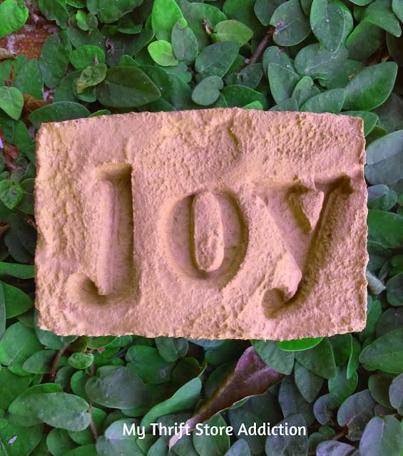 Secret Garden Herbs stamped cement