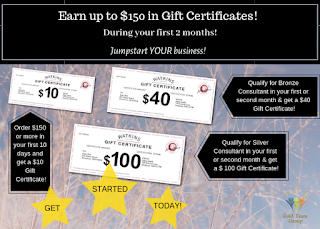 Watkins up to $150 in Gift certificates promotion