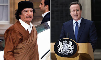 Muammar Gaddafi and David Cameron