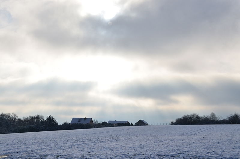 Neige Campagne Puisaye Yonne