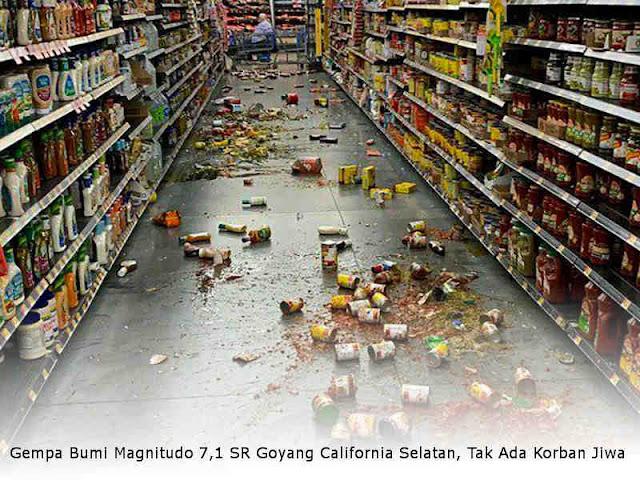 Gempa Bumi Magnitudo 7,1 SR Goyang California Selatan, Tak Ada Korban Jiwa
