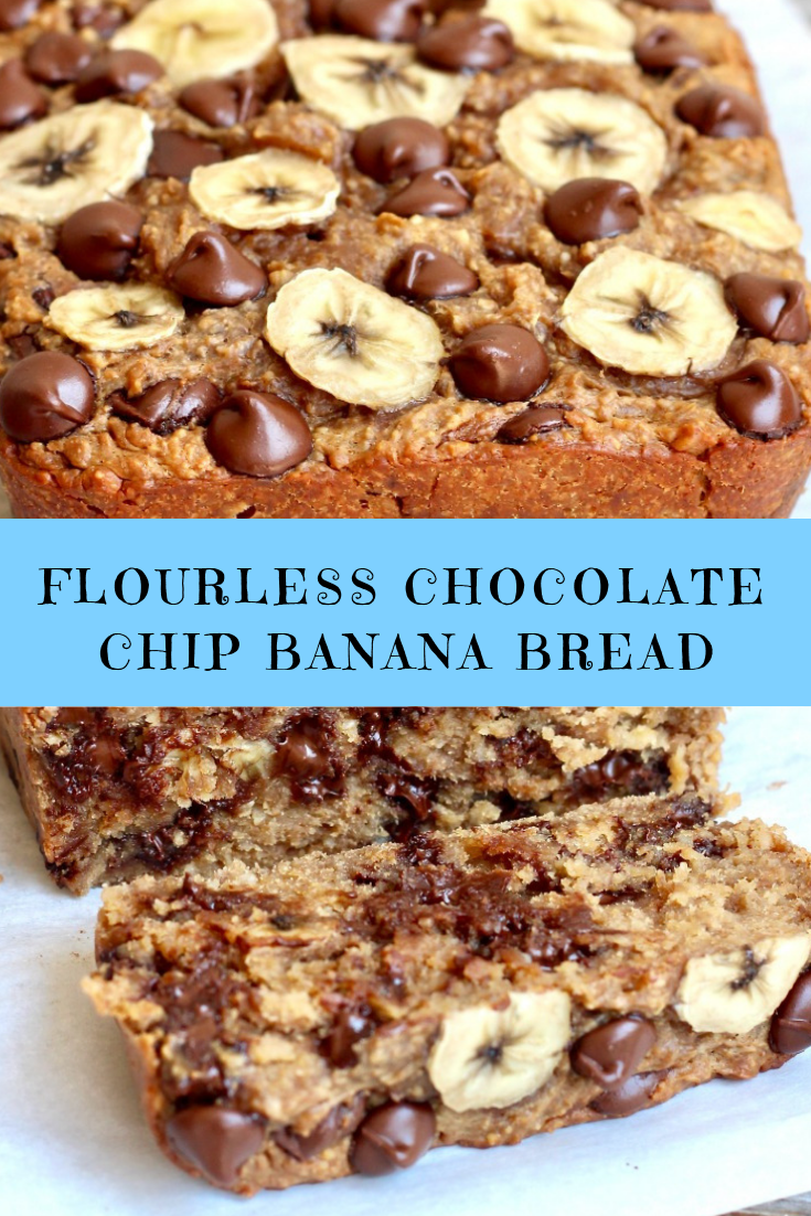 FLOURLESS CHOCOLATE CHIP BANANA BREAD RECIPE