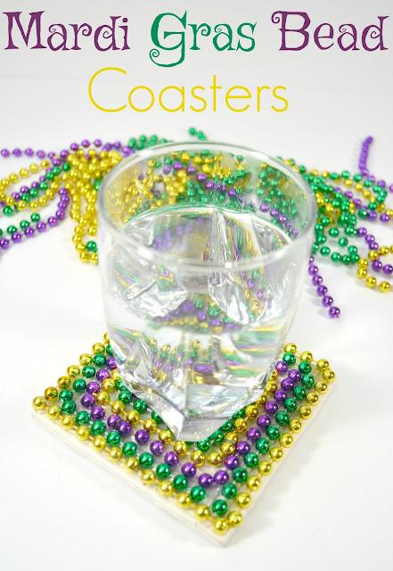 Mardi Gras Bead Coasters