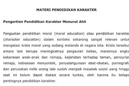 Materi MPLS Tentang Pendidikan Karakter