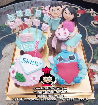 Cupcake Anniversary Tema Lilo and Stitch